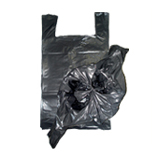 Garbage bag with handle