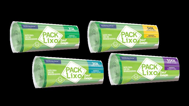 Pack Lixo Bio Bags Verde