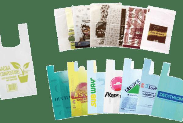 Sacola personalizada biodegradável