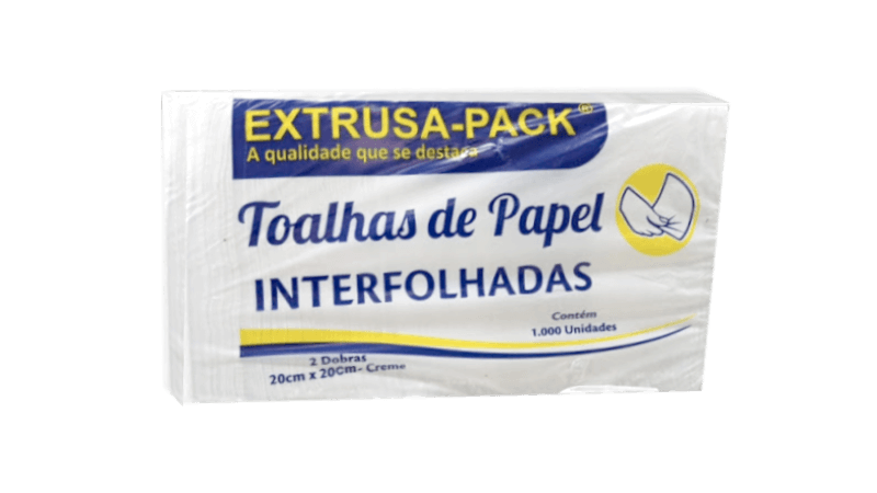 Papel interfolha branco e papel acoplado