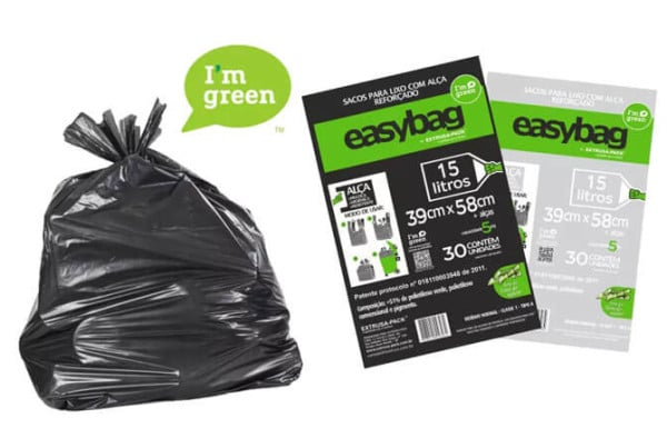 Saco para lixo Easy Bag I am Green de fontes renováveis