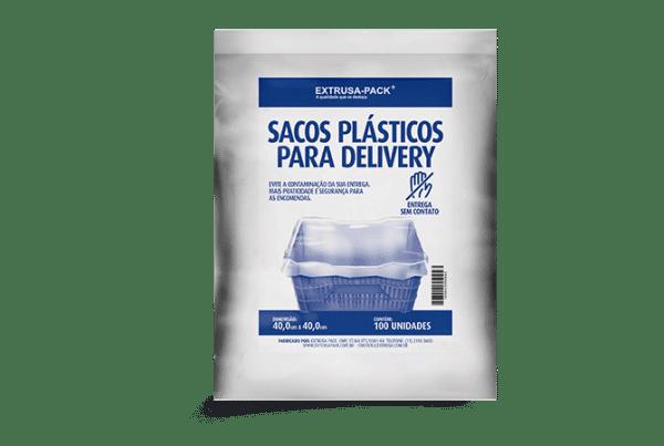 Saco plástico de proteção para delivery