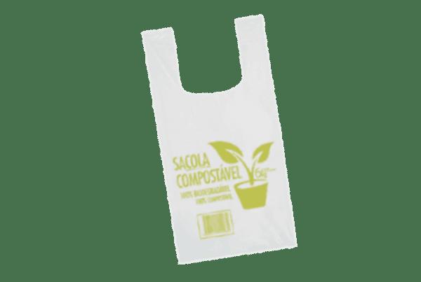 Sacolas biodegradáveis Compostável